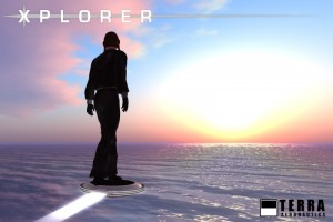 Terra Xplorer is a hover platform that goes with you through teleport.
