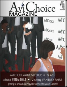March/April 2015 cover of Avi Choice Magazine. An article about me is buried deep at page 59. Fame! Fortune!