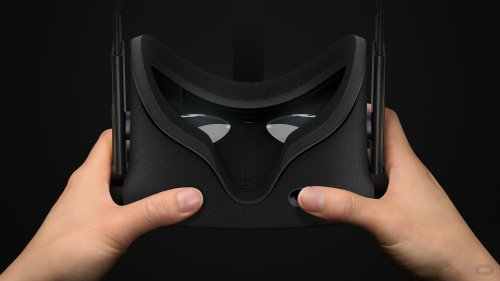 The Oculus Rift VR headset (photo provided by oculus.com)