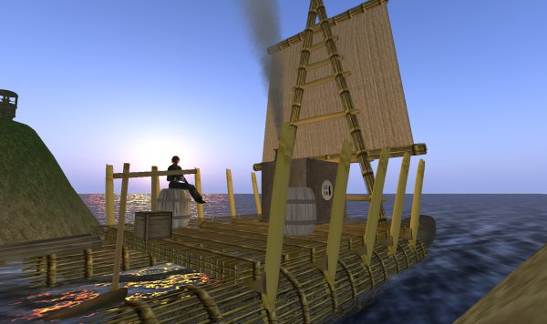 A relaxing moment in Second Life