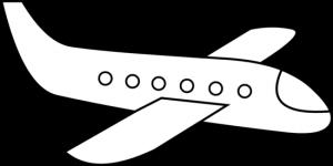 airplane_3_line_art