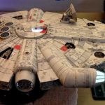 A view of the Millennium Falcon